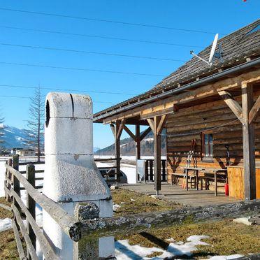 Außen Winter 5, Blockhütte Steiner, Stein an der Enns, Steiermark, Steiermark, Österreich