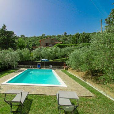 Außen Sommer 2, Villa il Riccio, Cortona, Arezzo, Cortona und Umgebung, Toskana, Italien
