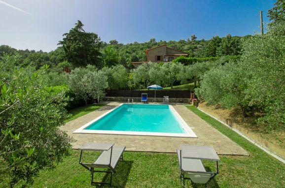 Außen Sommer 1 - Hauptbild, Villa il Riccio, Cortona, Arezzo, Cortona and surroundings, Toskana, Italien