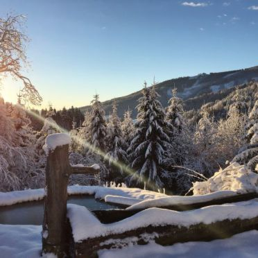 Innen Winter 21, Berghütte Kochhube, Hirschegg - Pack, Steiermark, Steiermark, Österreich