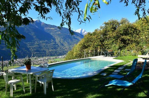 Außen Sommer 1 - Hauptbild, Rustico Vigna, Valtellina, Lombardei, Lombardei, Italien